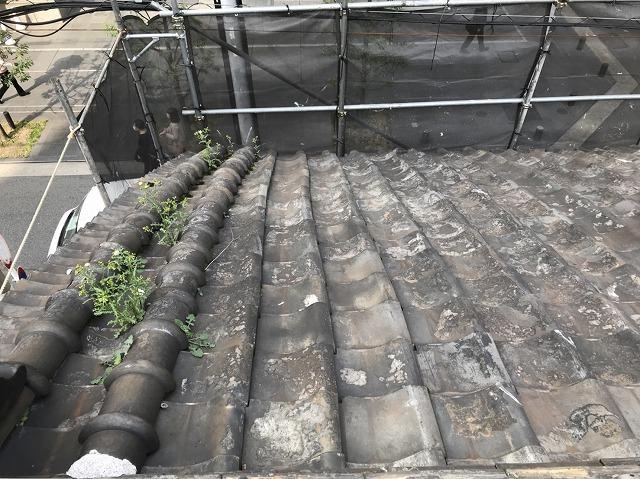 奈良市の瓦屋根の風切丸