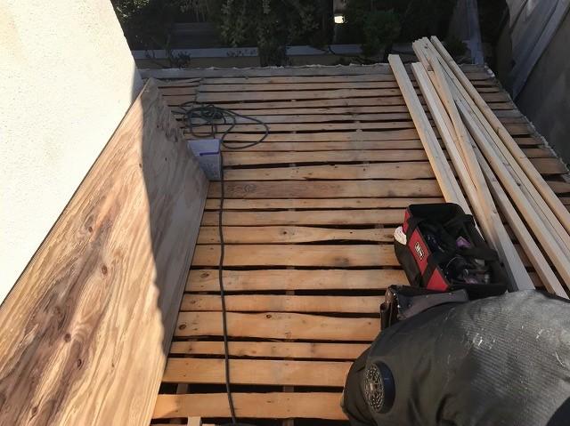 バラ板と補強垂木