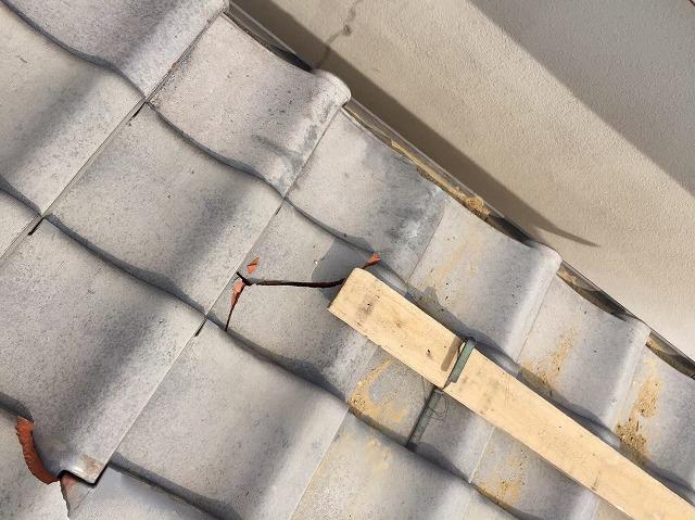 奈良市の瓦屋根の瓦補修