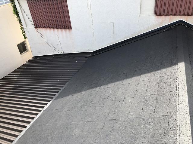 化粧スレート屋根完成の様子