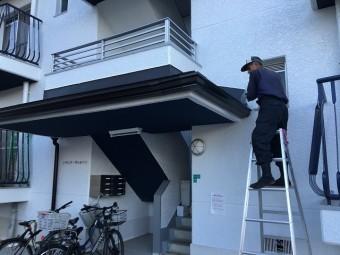 奈良市のマンションの雨樋リフォーム完成