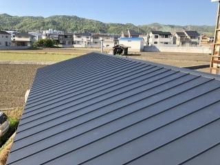 屋根カバー完成の屋根