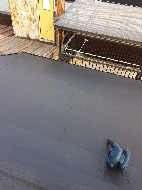 奈良市の屋根葺き替え工事でガルテクトを設置しました