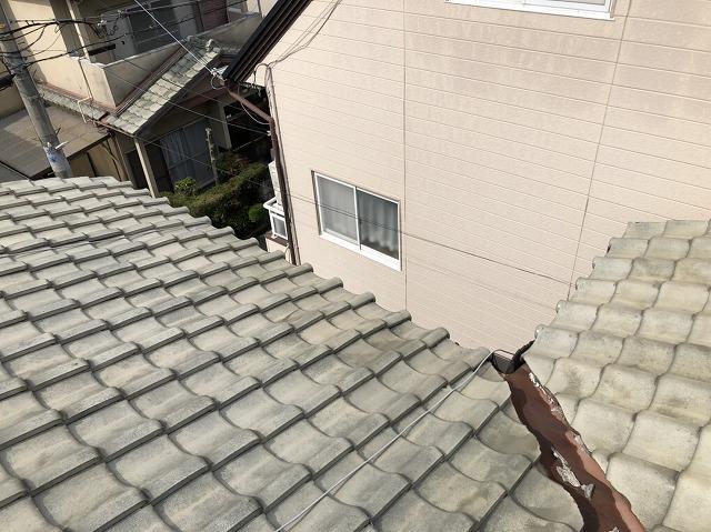 現地調査 瓦屋根