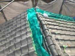 台風被害の瓦屋根