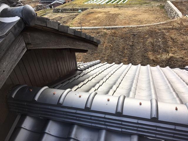 田原本町 下屋根 棟瓦設置