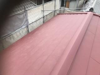 斑鳩町でガルテクト屋根完成