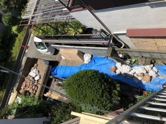 奈良市の屋根工事で出てきた廃棄物