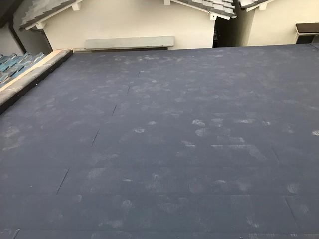 奈良市でガルテクトへの屋根葺き替え完了