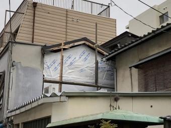 奈良市 リブ板張り 防水シート張り