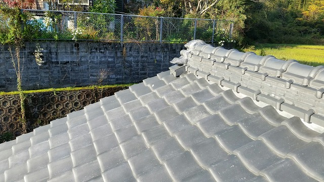 工事前の和瓦屋根