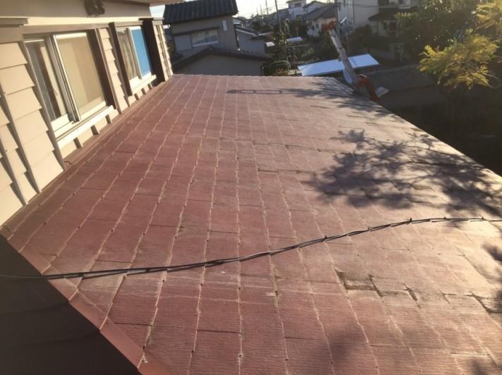 工事前下屋根