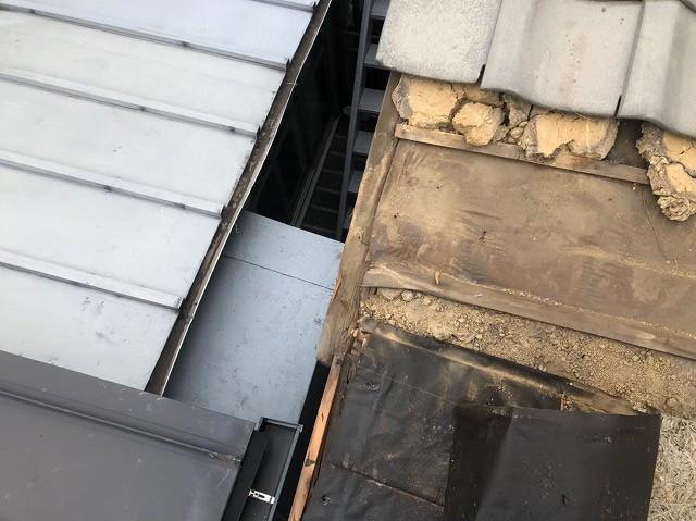 軒先の板金をガルテクトへ葺き替え