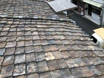 奈良市 雨漏り和瓦 施工前