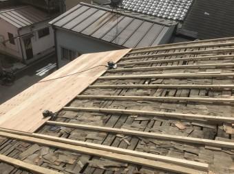 屋根のかさ上げの様子