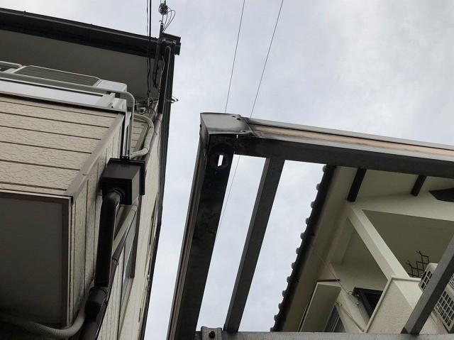 現地調査 カーポートの屋根
