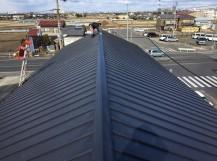 香芝市の和瓦屋根を立平葺きへ葺き替え完成