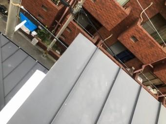 奈良市の台風被害の立平葺きの補修