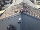 横葺き工法で葺き替え