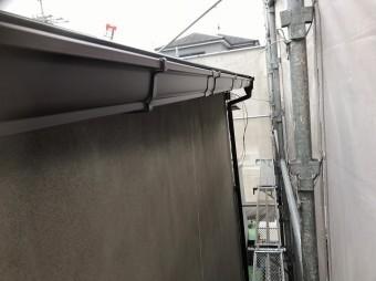 王寺町の雨樋交換完了