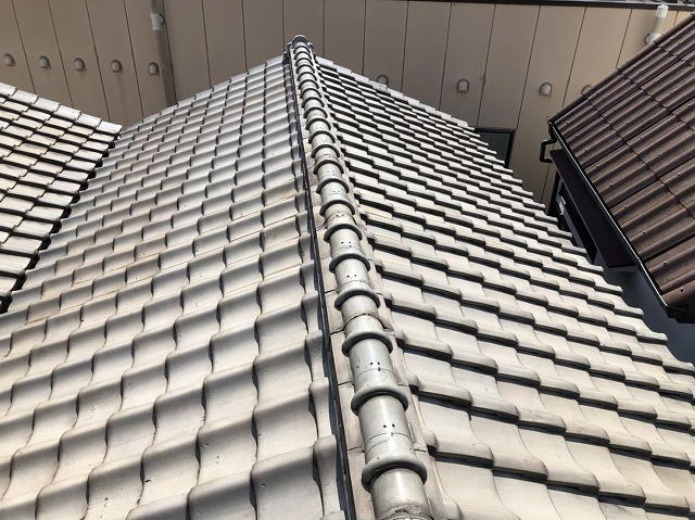 奈良市の陶器瓦屋根の無料点検
