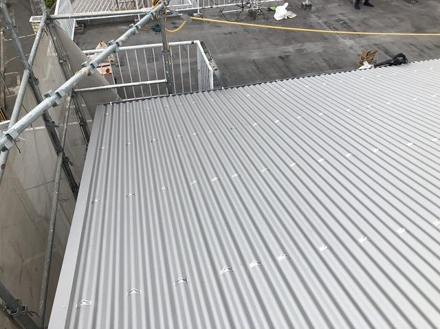 王寺町のリファインルーフ屋根完成