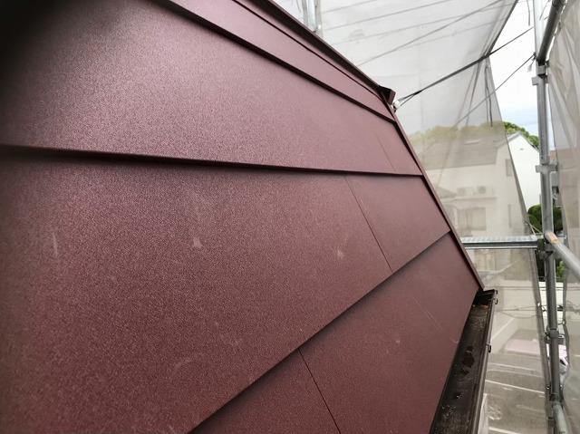 斑鳩町の急勾配屋根の葺き替え工事