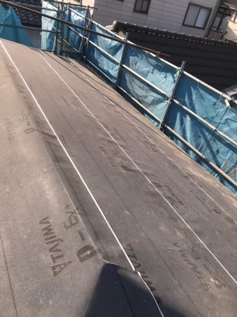 TAJIMA社の防水紙と足場