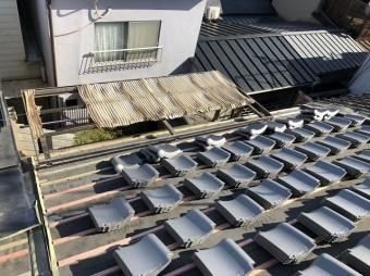 奈良市 和瓦屋根 和瓦設置