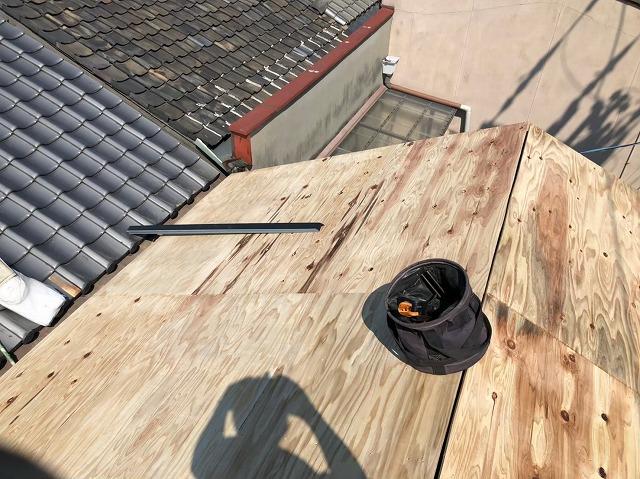 生駒市で構造用合板を設置
