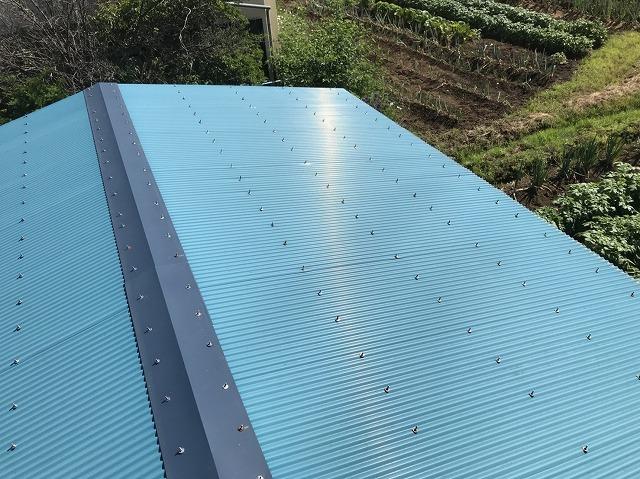 大和郡山市の青色トタン波板屋根の無料点検