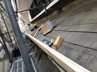 奈良市の和瓦下屋根のかさ上げ作業