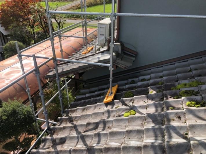 工事を始める前の下屋根