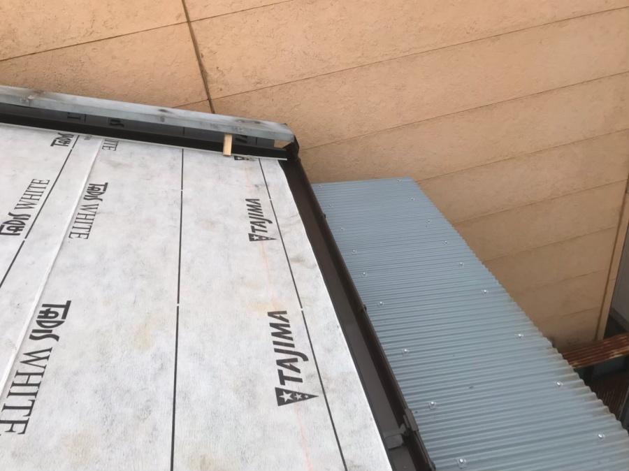 奈良市の屋根に防水紙(ルーフィング)を設置