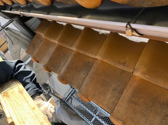 経年劣化した瓦屋根の解体