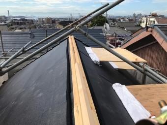 五條市の屋根のスーパーガルテクト設置