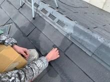 屋根にタスペーサーを装着