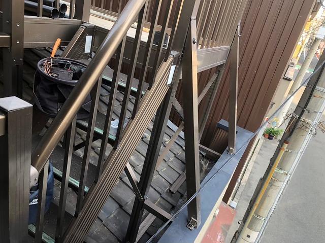 階段の補修