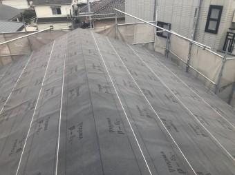 香芝市の新築住宅の屋根工事施工前