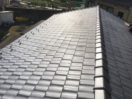 香芝市の平板瓦屋根施工前