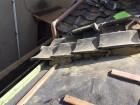 防水紙と瓦桟木設置