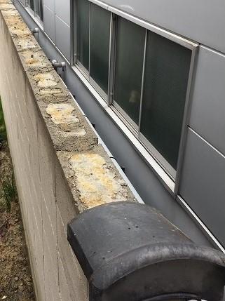 大和郡山市 お寺 ブロック塀修理 施工前