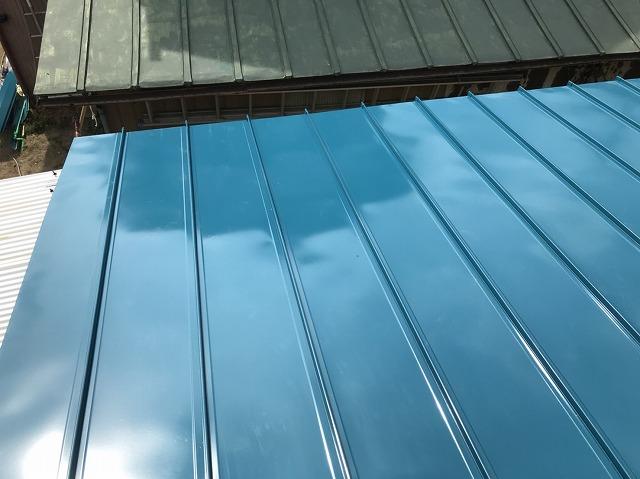 大和郡山市のトタン屋根が立平葺き屋根に変身