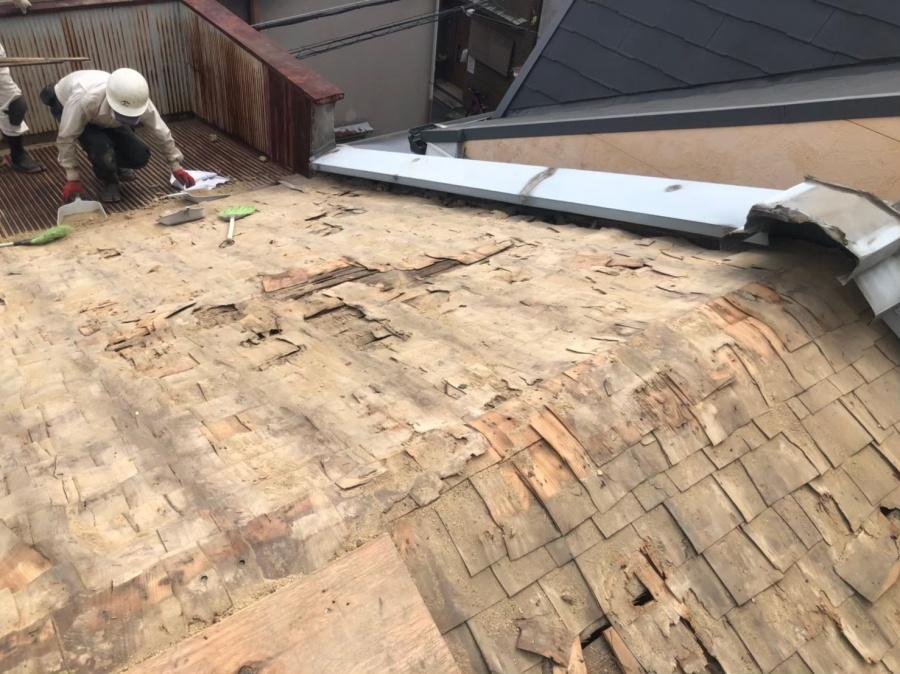 奈良市 粘土瓦 瓦解体作業