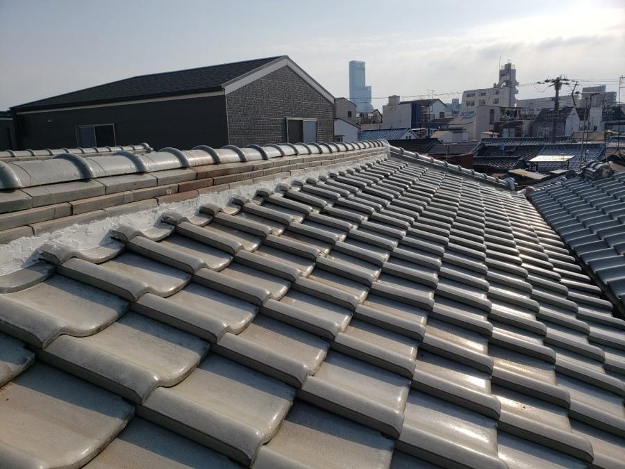 大阪市内の瓦屋根の施工後