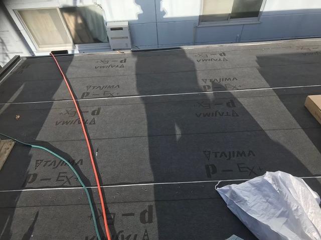 葛城市 防水シート設置