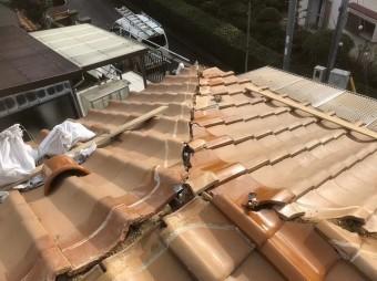 平群町で既存の棟を撤去
