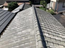 田原本町で雨漏りの瓦屋根