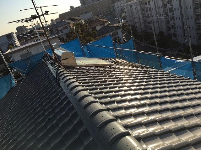 工事前の大屋根の様子
