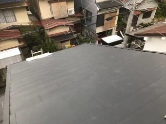 ガルテクトに葺き変わった屋根